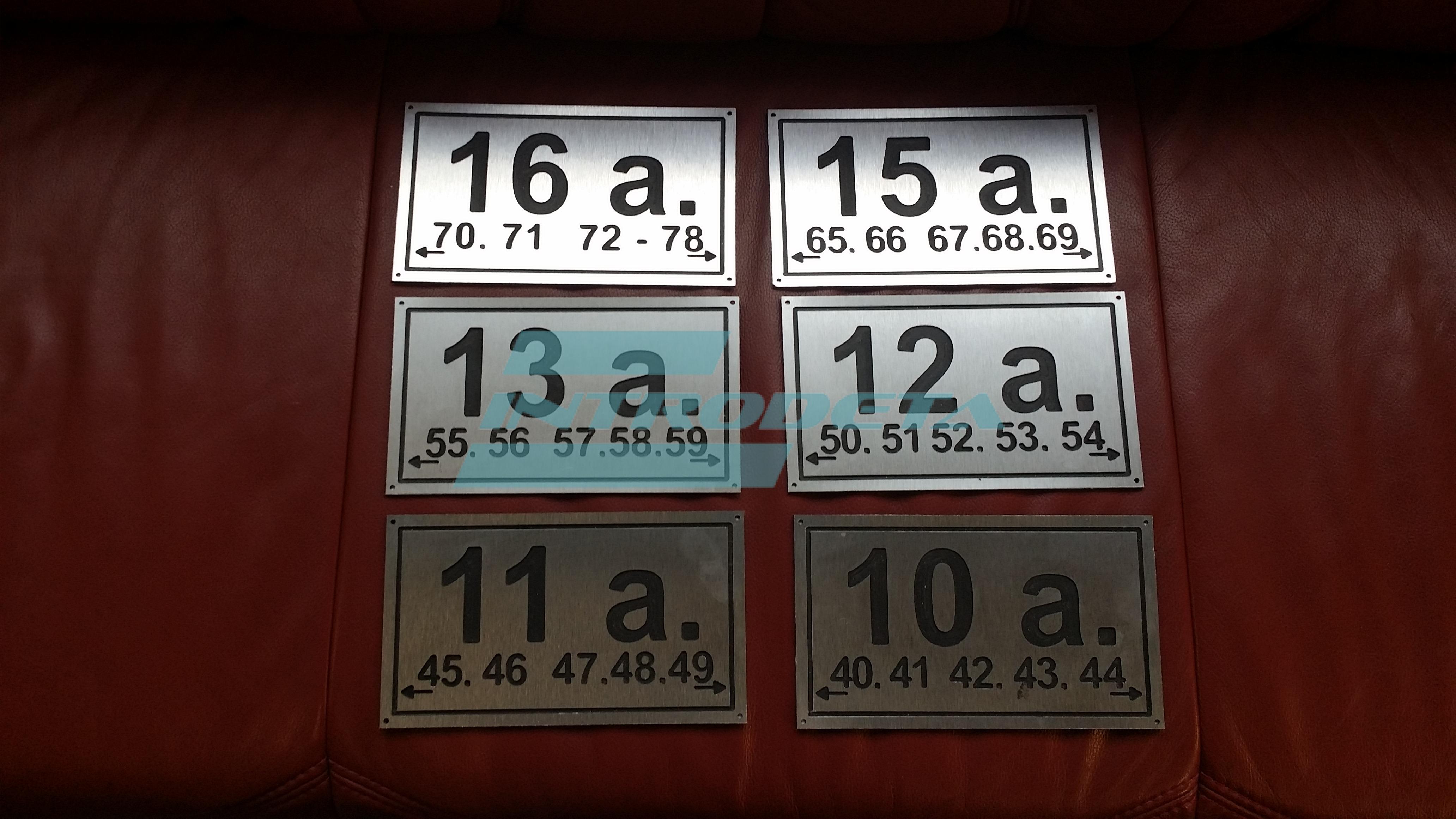 Aukšto informacinės lentelės