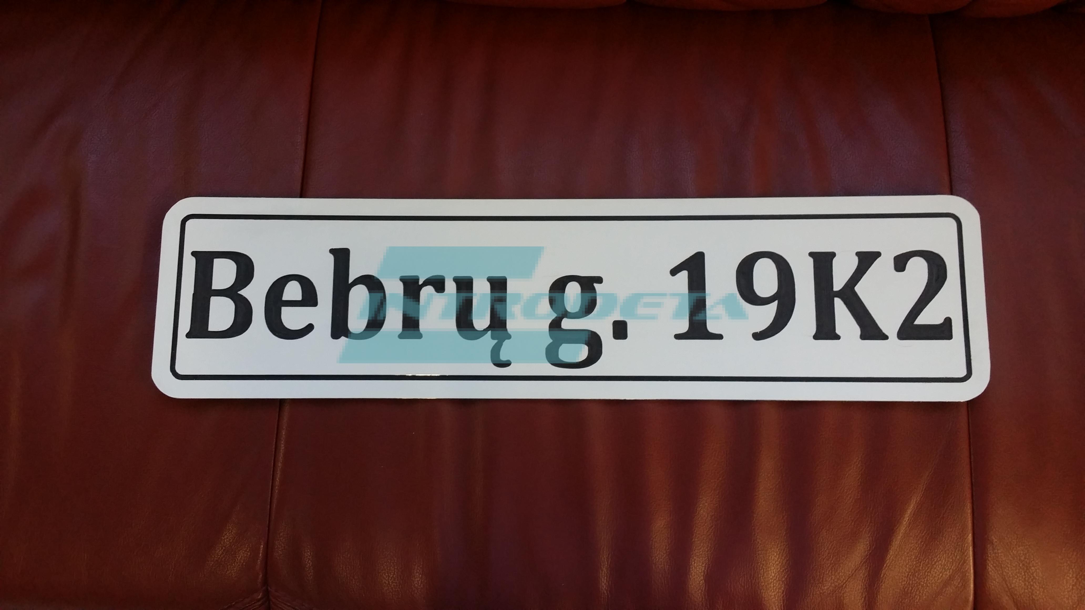 namo numeriai su gatves pavadinimu