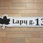 Namu numeris su gatves simbolika